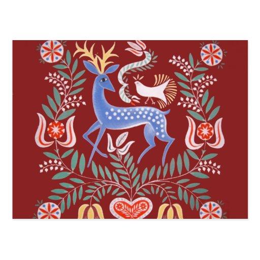 Arte popular húngara cartoes postais