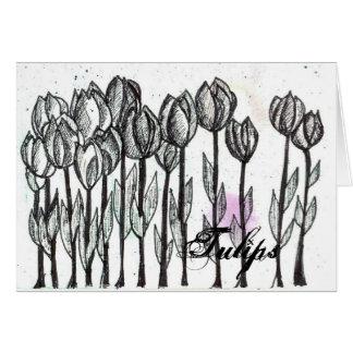 Arte preta da flor da caneta e da tinta do cartão