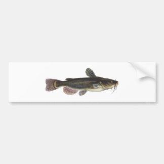 Arte preta do peixe-gato do peixe-gato adesivos