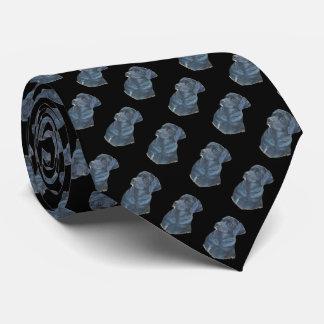 arte preta do realista do retrato do cão de gravata