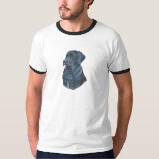 arte preta do realista do retrato do cão de tshirts