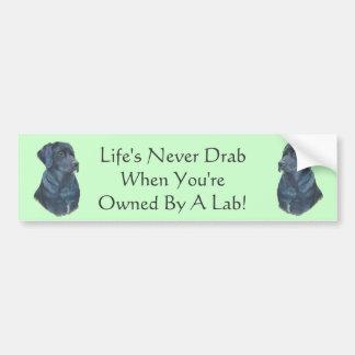 arte preta do retrato do cão de Labrador com Adesivo Para Carro