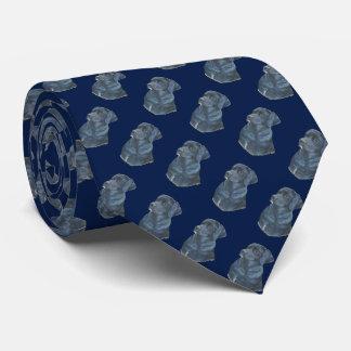 arte preta do retrato do realista do cão de gravata