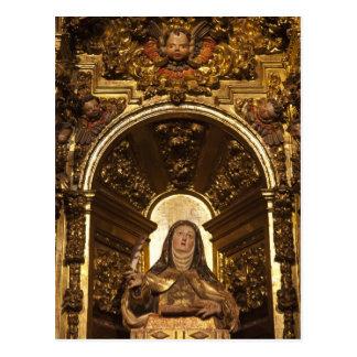 Arte religiosa que representa o papai noel Teresa Cartão Postal