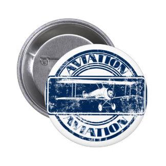 Arte retro da aviação boton