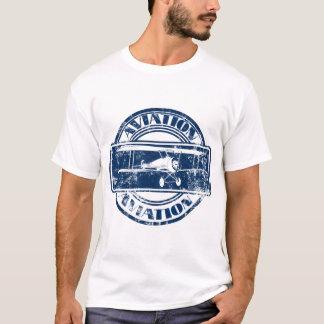 Arte retro da aviação camiseta