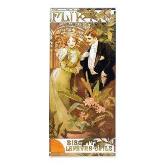 Arte romântica Nouveau do vintage da namoradeira 10.16 X 22.86cm Panfleto