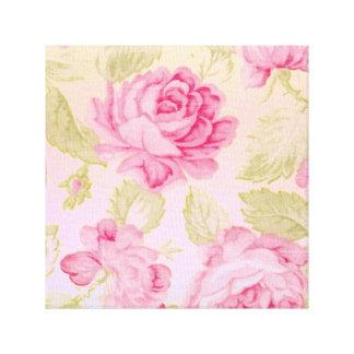 Arte rosado da parede das canvas do bom dia do