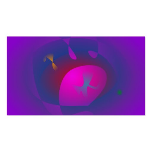 Arte roxa abstrata da nebulosa cartoes de visitas