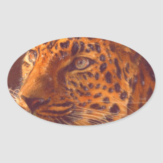 arte - selvagem adesivos oval