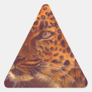 arte - selvagem adesivo em forma de triângulo