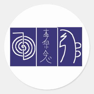 ARTE simbólica: Reiki domina ferramentas da Adesivo Redondo