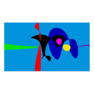 Arte simples de Digitas do Expressionism abstrato Cartão De Visita
