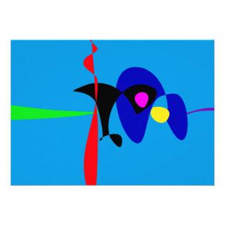 Arte simples de Digitas do Expressionism abstrato Convite Personalizados