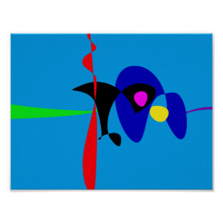 Arte simples de Digitas do Expressionism abstrato Poster