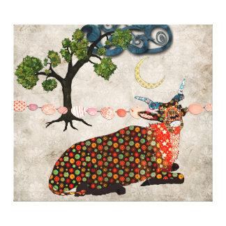 Arte sonhadora das canvas da noite do Addax artíst Impressão Em Tela