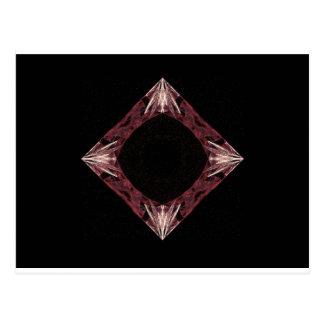 Arte Sparkling vermelha do Fractal do diamante Cartão Postal
