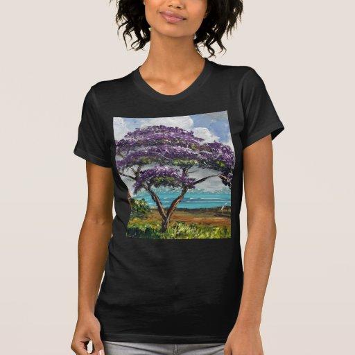 Arte tropical da árvore do Jacaranda Camisetas