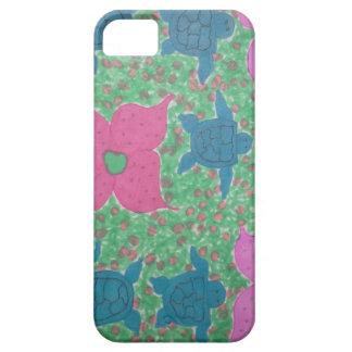 Arte tropical das tartarugas e das flores de mar capa barely there para iPhone 5