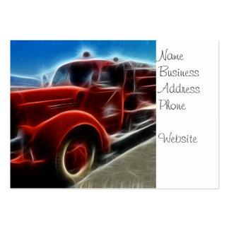 Arte vermelha antiga brilhante bonita do carro de cartão de visita grande