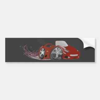 Arte vermelha do carro de esportes dos desenhos an adesivo para carro