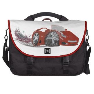 Arte vermelha do carro de esportes dos desenhos an bolsa para notebook