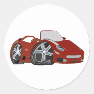 Arte vermelha do carro dos desenhos animados adesivo