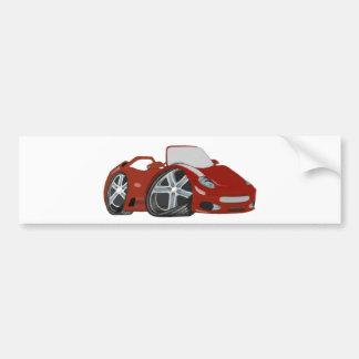 Arte vermelha do carro dos desenhos animados adesivos