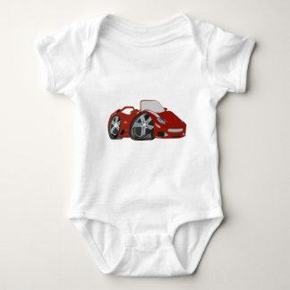Arte vermelha do carro dos desenhos animados body para bebê