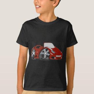 Arte vermelha do carro dos desenhos animados camiseta
