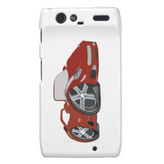 Arte vermelha do carro dos desenhos animados capas droid RAZR