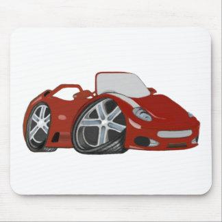 Arte vermelha do carro dos desenhos animados mouse pad