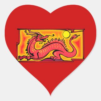 Arte vermelha dos desenhos animados do desenho da adesivos em forma de corações