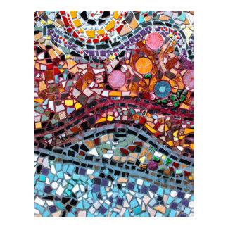 Arte vibrante da parede do mosaico papel timbrado