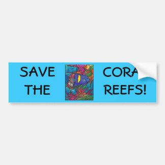 """Arte """"vitral """" do recife de corais do Angelfish de Adesivo Para Carro"""