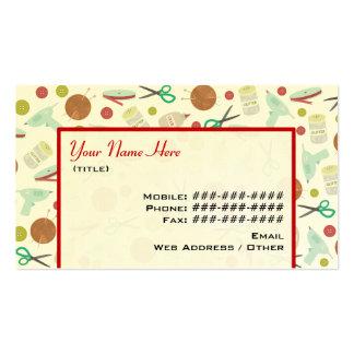 Artes & cartão de visita temático dos artesanatos