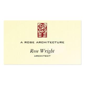 Artes cor-de-rosa & ornamento dos artesanatos cartão de visita