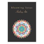Artes curas da mandala colorida da flor de Lotus Modelo Cartoes De Visita
