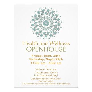 Artes curas e saúde natural e bem-estar modelo de panfletos