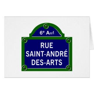 Artes do DES de Santo-Andre da rua, sinal de rua Cartão Comemorativo