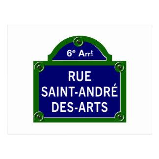 Artes do DES de Santo-Andre da rua, sinal de rua Cartão Postal