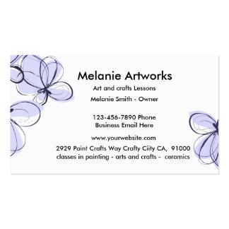 Artes e artesanatos cartão de visita