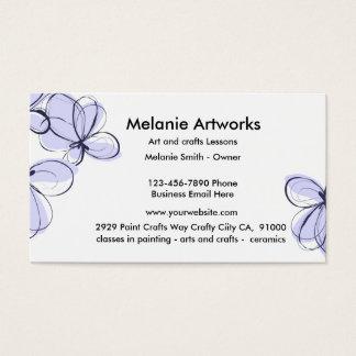 Artes e artesanatos cartão de visitas