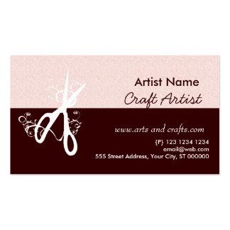Artes e artesanatos clássicos do artista cartão de visita