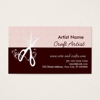 Artes e artesanatos clássicos do artista cartão de visitas