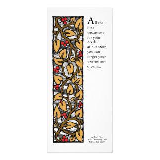 Artes e artesanatos coloridos videira e folha 10.16 x 22.86cm panfleto
