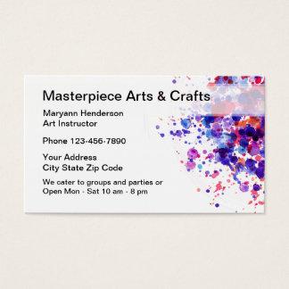 Artes e classes dos artesanatos cartão de visitas