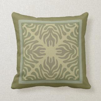 Artes e design orgânicos dos artesanatos em verdes almofada