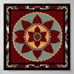 Artes e Mandala-impressão da flor dos artesanatos