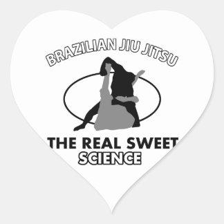 Artes marciais de Jiu Jitsu do brasileiro Adesivo Coração